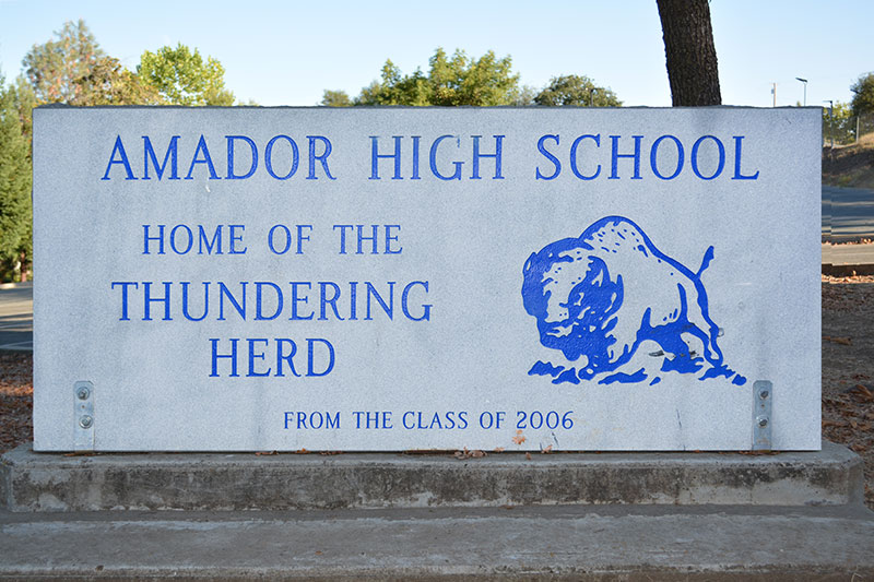 Amador High School Sign