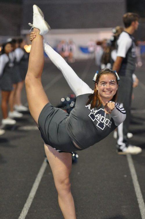Cheerleader posing