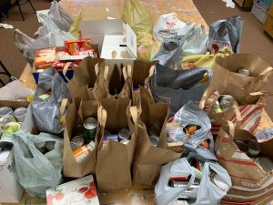 cans for the can food drive
