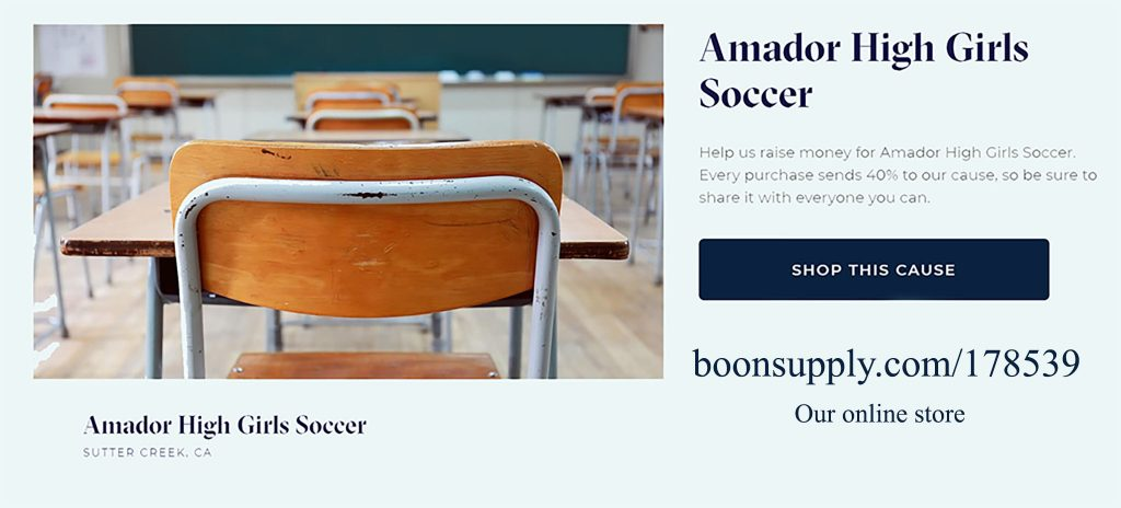 Amador High Girls Soccer Fundraiser